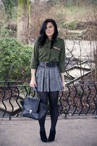 army green Cozbest shirt - black Primark skirt