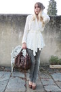 Brown-spy-fendi-bag-white-knitted-only-cardigan-olive-green-edun-pants