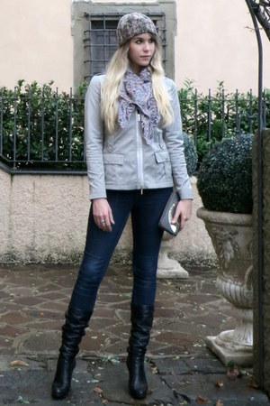 Esprit jeans - Promod hat - Julien Macdonald jacket - H&M scarf