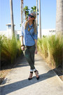 Army-green-paige-jeans-sky-blue-chambray-old-navy-shirt
