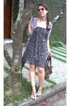 Local shop dress - Accessorize bag - christian dior sunglasses - Santa Lola heel