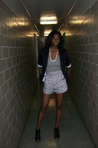 H&M jacket - H&M necklace - forever 21 shorts - American Apparel top - Urban Out