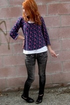 Urban Outfitters shirt - thrifted from Crossroads leggings - Bebe shoes