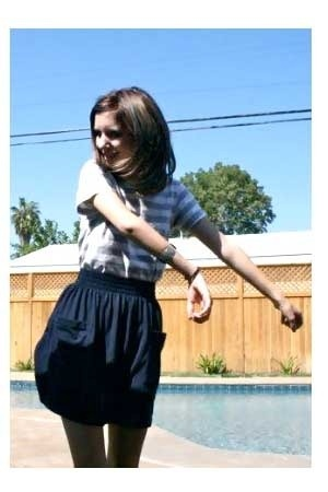 American Apparel shirt - American Apparel skirt - bracelet