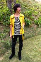 Charlotte Russe shirt - delias jeans - TJ Maxx jacket - Forever 21 necklace