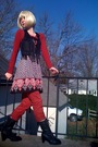 Red-h-m-sweater-black-forever21-top-black-walmart-vest-red-mango-jeans-b
