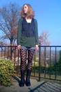 Black-forever21-leggings-black-forever21-boots-black-walmart-vest-green-wa