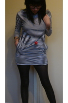 American Apparel dress - Forever 21 tights - vintage necklace - Jessica Simpson