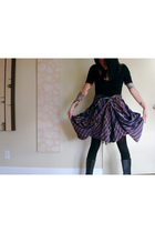 black American Apparel top - purple Hellz Bellz skirt - black American Apparel t