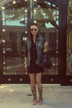 Zara dress - Agaci jacket - balenciaga bag - Ray Ban sunglasses