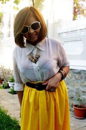 Zara skirt - Stradivarius bracelet - meli melo necklace - Vero Moda blouse