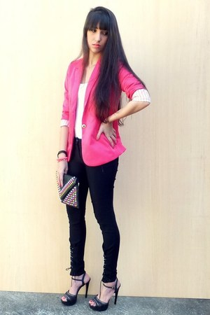 hot pink Ahai Shopping blazer - black Sammy dress bag - cream Sammy dress ring