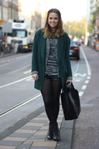 Zara jacket - asos boots - Zara coat - leather H&M shorts - Zara top