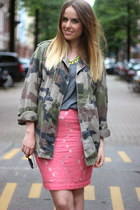 H&M skirt - vintage jacket - Zara necklace