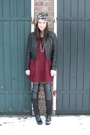 Monki cardigan - H&M jacket - Monki boots