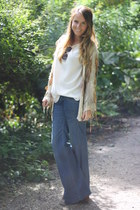 vintage cardigan - asos shoes - H&M jeans
