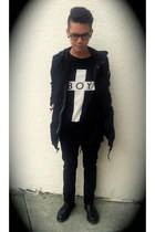 Boy London t-shirt - Dr Martens boots - Cheap Monday pants