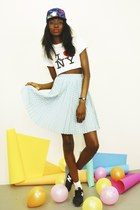 Polka Dot Pleated Skater Skirt