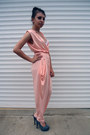 Peach-vmzona-bodysuit-charcoal-gray-made-for-me-handmade-heels
