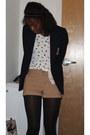 Tan-h-m-shorts-navy-forever-21-blazer-white-forever-21-shirt