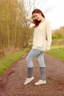 Beige-sds-shoes-light-blue-used-red-concept-jeans-ivory-girly-romwe-sweater