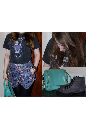 aquamarine aqua satchel bag - amethyst Missguided shorts