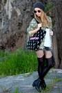 Black-ankle-primark-boots-dark-khaki-camo-bershka-jacket