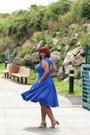 Blue-blue-dress-eshatki-dress-tan-franco-sarto-sandals