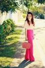 Hot-pink-pants-light-pink-blouse