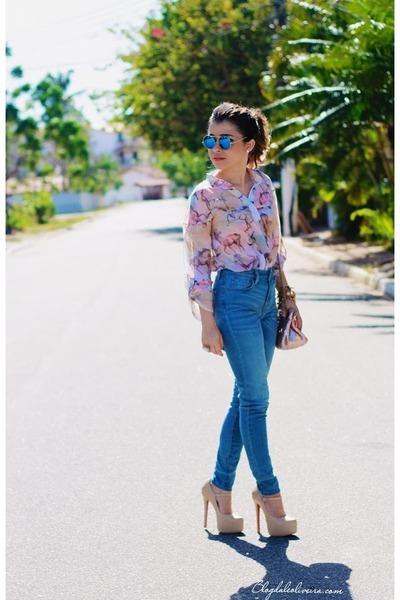 sky blue Bina multimarcas pants