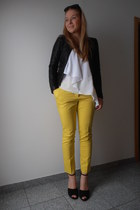 yellow H&M pants