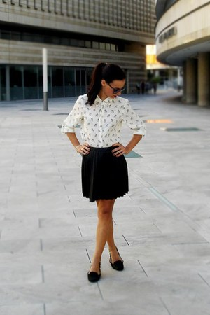 studs Zara shirt - studs Zara shoes - Stradivarius skirt