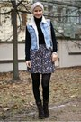 Reserved-bag-tally-weijl-skirt-h-m-vest