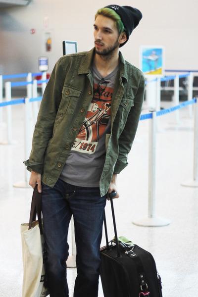 dark green jacket Jacket jacket - navy jeans Big Star USA jeans