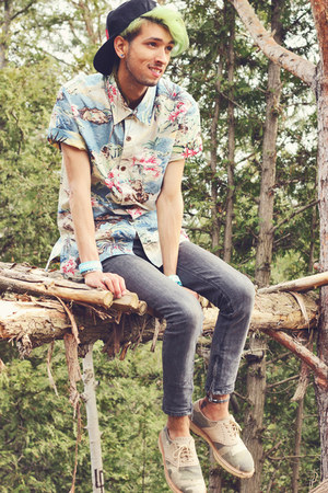 aquamarine tropical IRON AND RESIN CLOTHING shirt