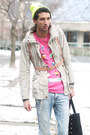 Off-white-beige-jacket-river-island-coat-dark-gray-combat-boots-romwe-boots