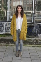 H&M Trend cardigan - Isabel Marant boots - Lois jeans - Mango blouse