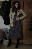 Isabel Marant dress - Zara boots - Zara jacket