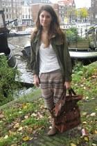 H&M Trend pants - Mango bag - vintage jacket - H&M boots