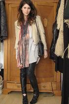 Zara jacket - Zara boots - Zara blouse - Mango scarf - Mango pants