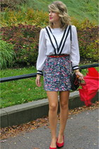 vintage blouse - Rebecca Minkoff bag - Kimchi Blue skirt - vintage belt