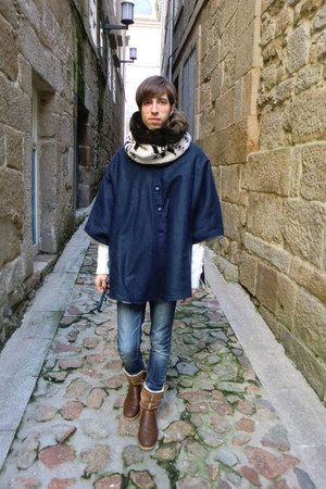 BLANCO boots - pull&amp;bear jeans - Zara scarf - pull&amp;bear jumper - Design and prod