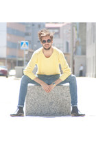 H&M boots - H&M jeans - Zara sunglasses - Zara jumper
