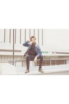 Zara shoes - asos jeans - pull&bear jacket - H&M shirt