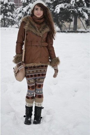 winter print Terranova tights - white Terranova hat