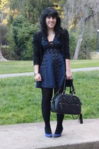 black Chinese Laundry tights - navy zac posen for target dress