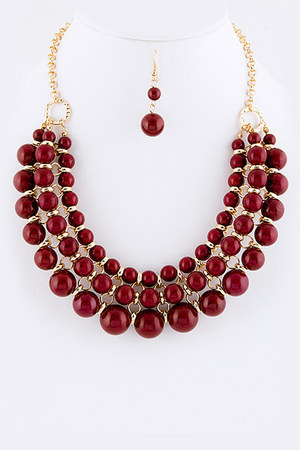 ruby red beads Brazenelle accessories