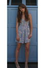 Blue-urban-outfitters-dress-beige-forever-21-shoes-beige-topshop-earrings-