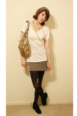ripped diy tights - Gustto purse