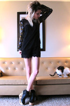 black Urban 1972 shorts - black Betsey Johnson socks - black Jeffrey Campbell we